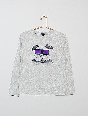 T-shirt com lantejoulas reversível - Kiabi