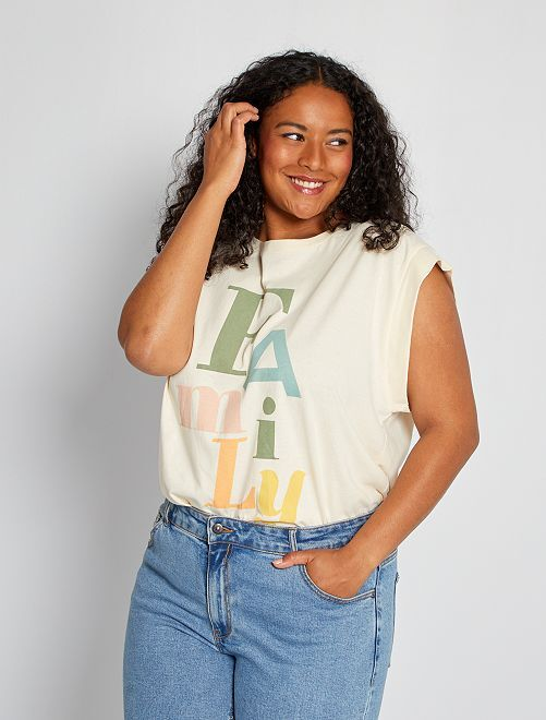 T-shirt com mensagem                                         BRANCO