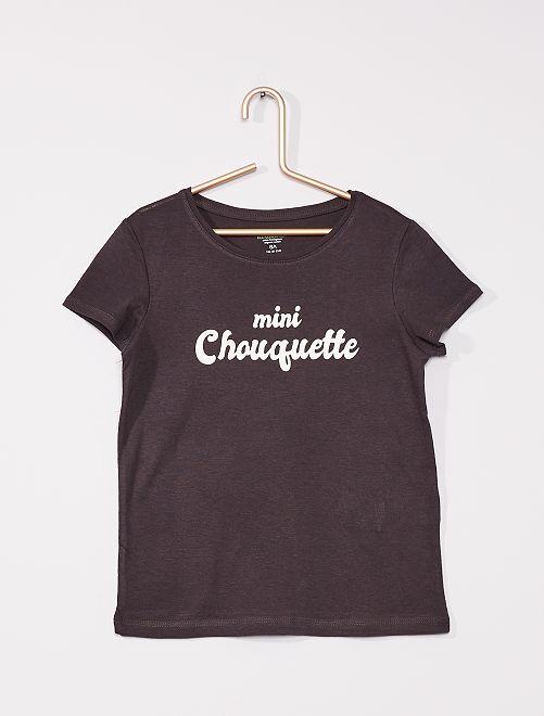 T-shirt com mensagem de 'conceção ecológica'                                                                     PRETO