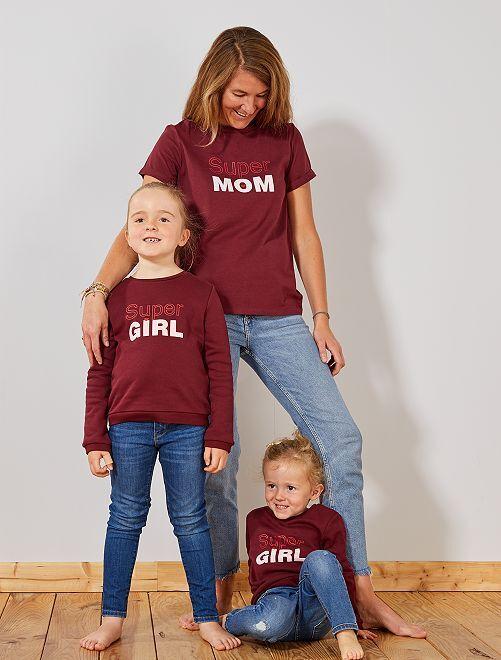 T-shirt com mensagem                                                                                                                                         ROXO Mulher do 34 até 48