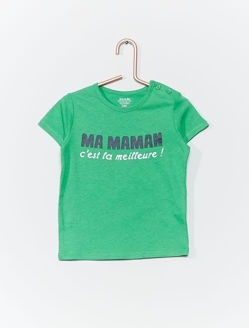 T-shirt 'concebida ecologicamente'                                                                             VERDE