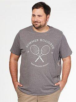 T-shirt - T-shirt conforto Jersey com estampado desporto