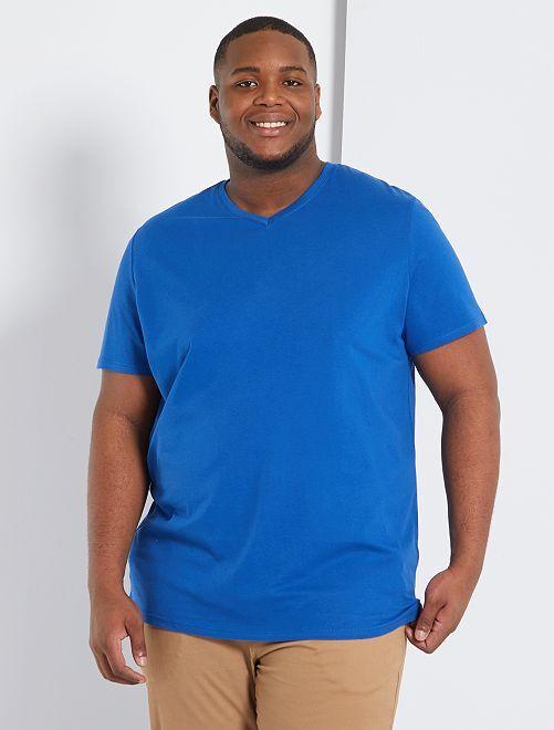 T-shirt conforto jersey lisa                                                                                                                             Azul
