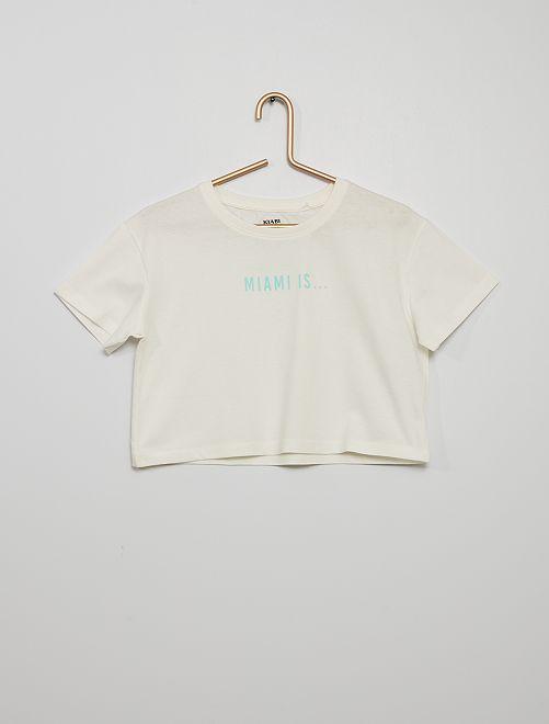 T-shirt crop-top                                                     BRANCO