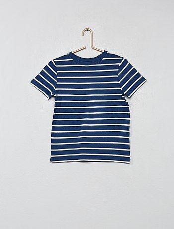 Menino 3-12 anos - T-shirt de algodão biológico estampada - Kiabi 3d26cc1e0e1