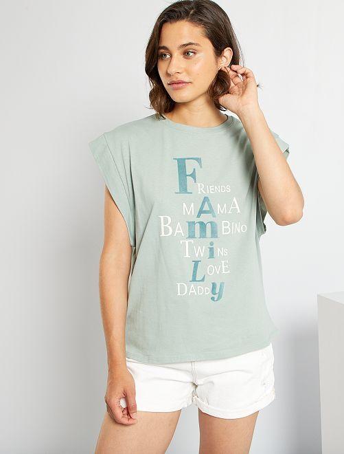 T-shirt de conceção ecológica                                         AZUL