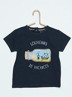 Menino 0-36 meses T-shirt de manga curta com estampado 'Monstrinhos'