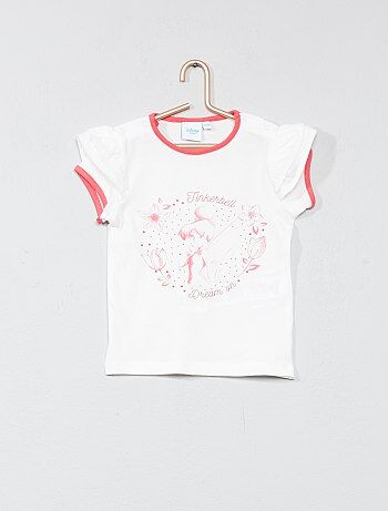T-shirt de mangas com folhos 'Sininho' - Kiabi