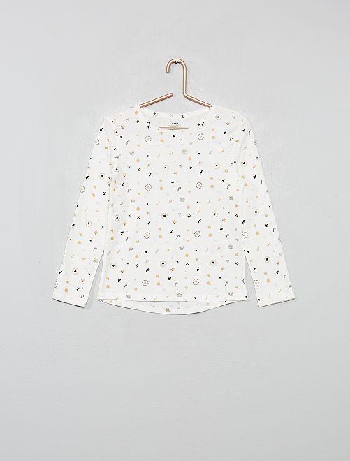 T-shirt 'Eco-conception' estampada                                                                             BRANCO