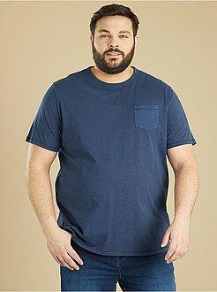 T-shirt em algodão mesclado - Kiabi