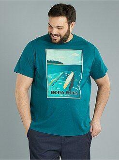 T-shirt em jersey 'Bora Bora' - Kiabi