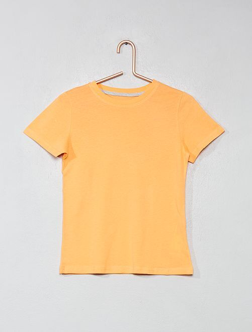 d7d5c8837 T-shirt em puro algodão bio Menino 3-12 anos - Verde - Kiabi - 2,00€