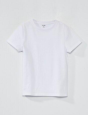 T-shirt em puro algodão - Kiabi