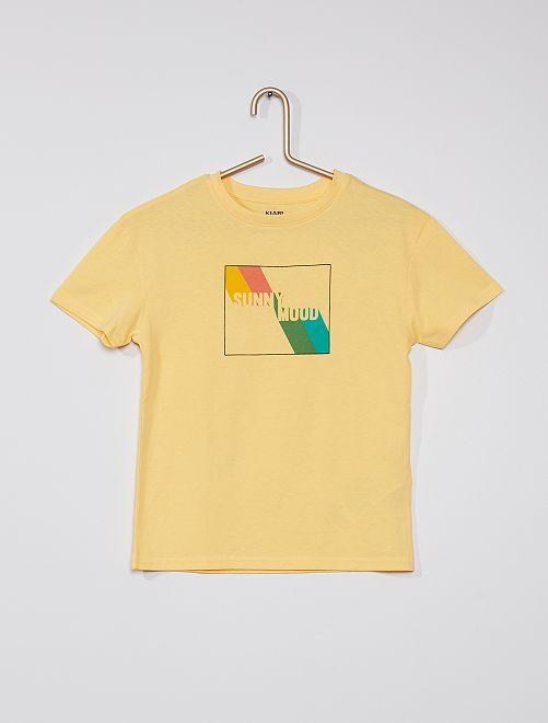 T-shirt estampada                                         AMARELO