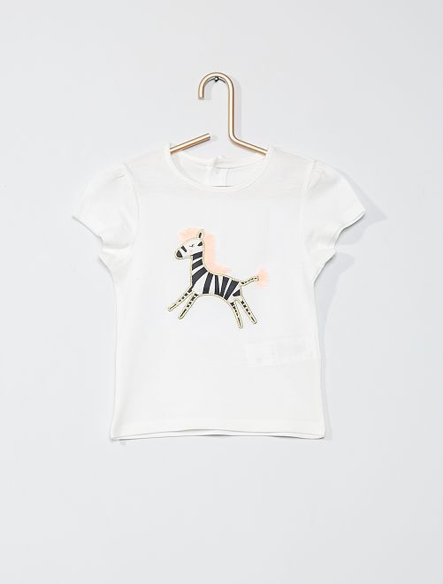 T-shirt estampada 'concebida ecologicamente'                                                                 BRANCO