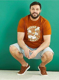 T-shirt estampada em jersey - Kiabi