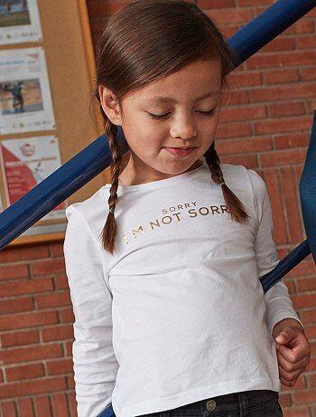 T-shirt estampada em puro algodão - Kiabi