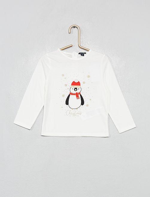 T-shirt estampada 'Natal'                             BRANCO