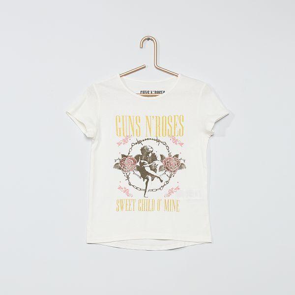 T shirt, top Menina 3 12 anos | branco | Kiabi