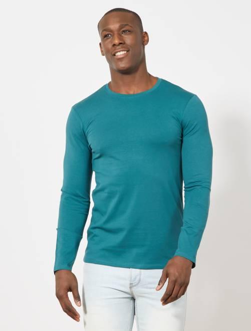 c83003a23 T-shirt lisa de manga comprida Homem do s até xxl - Kiabi - 6