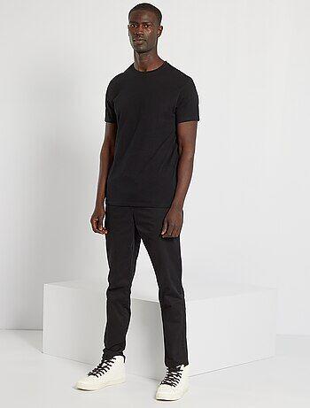 T-shirt lisa em malha jersey - Kiabi