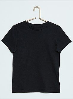 T-shirt, polo - T-shirt lisa em puro algodão