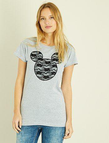 T-shirt 'Mickey' em renda - Kiabi