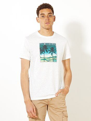 T-shirt regular com estampado - Kiabi