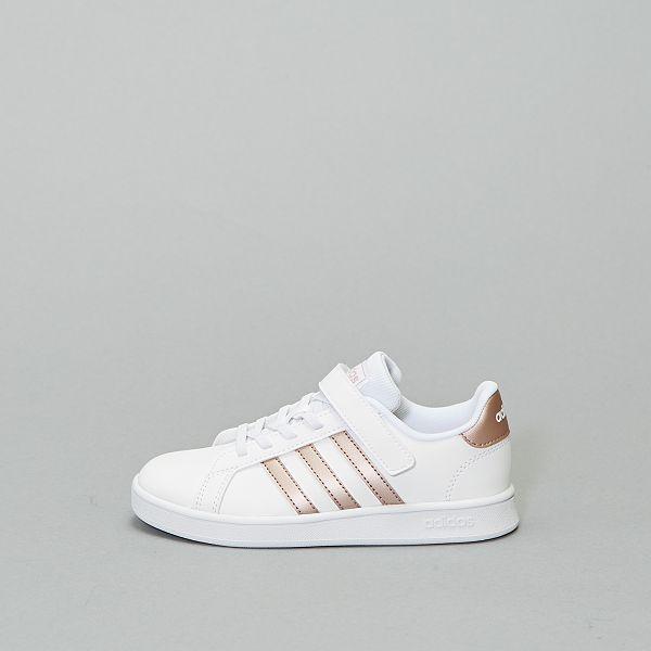 adidas grand court blanc et or
