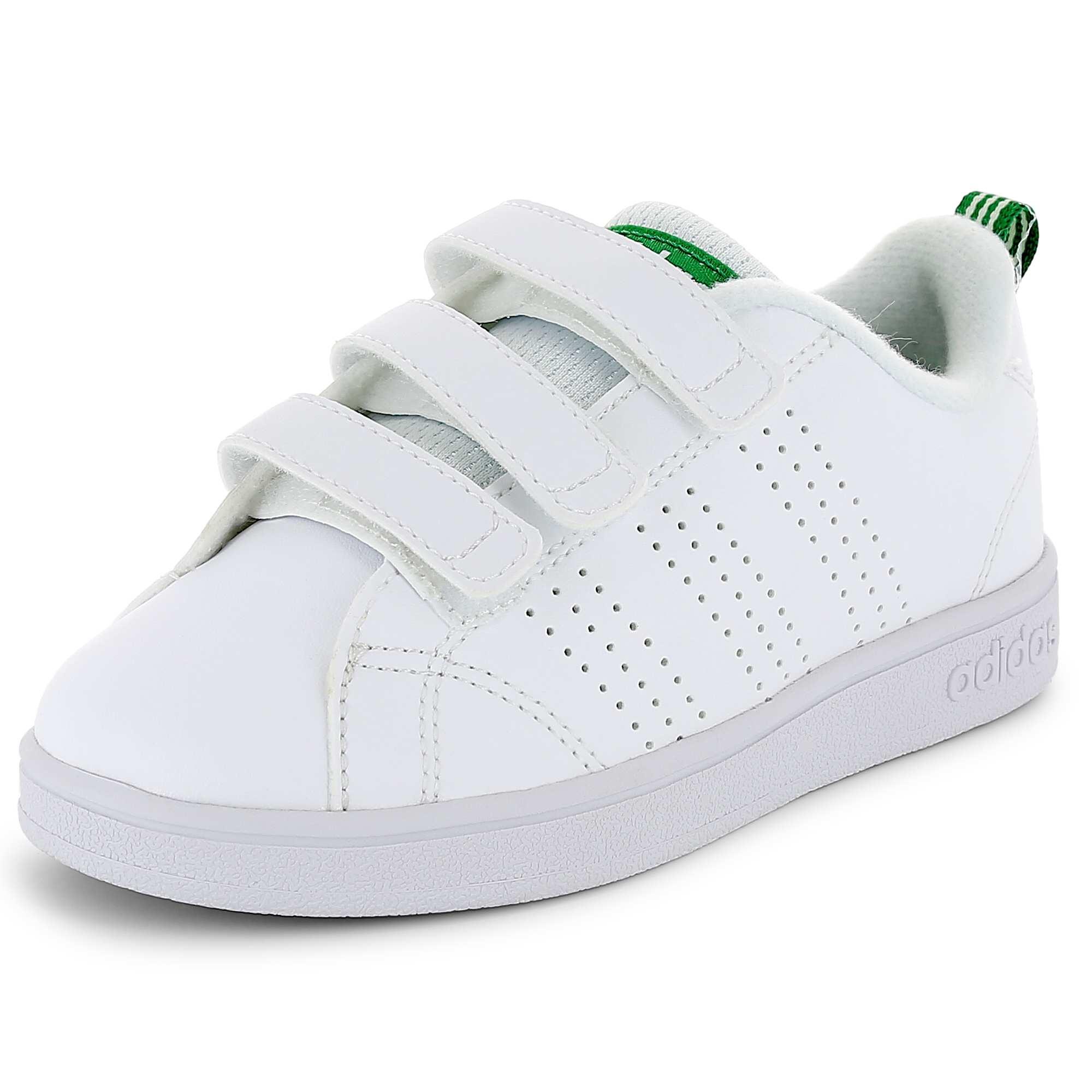 501c3723bc075 Ténis  Adidas VS Advantage Clean  com tiras de velcro blanco Menino 3-12.  Loading zoom
