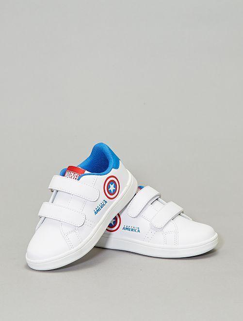 Ténis com velcro 'Capitão América'                             Branco Calçado