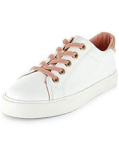 Sapatos menina - Ténis rasos com atacadores