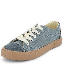 Calçado, pantufas - Ténis rasos de lona - Kiabi