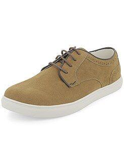 Sapatos homem - Ténis rasos em camurça - Kiabi