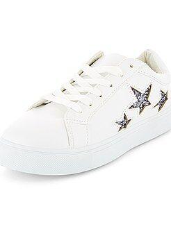 Calçado branco - Ténis rasos 'estrelas' - Kiabi