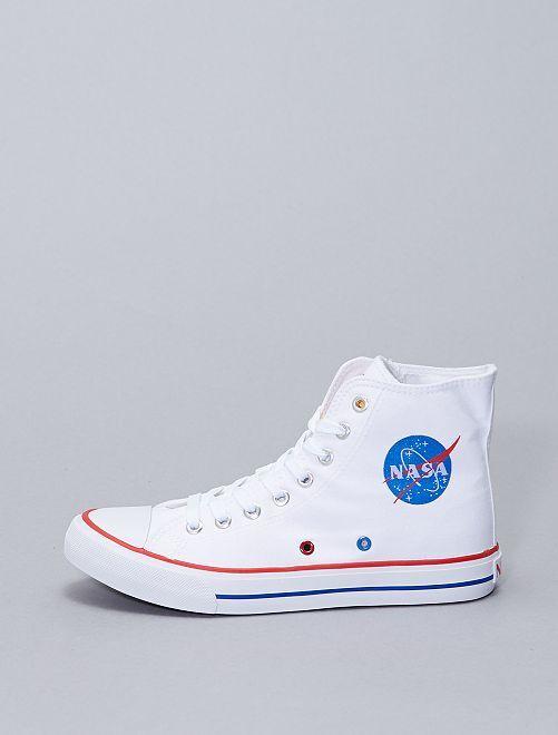 Ténis subidos de lona 'NASA'                             Branco