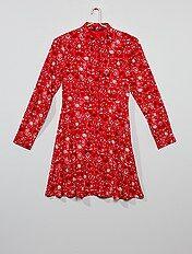 Vestido Saia Menina 10 18 Anos Vermelho Kiabi