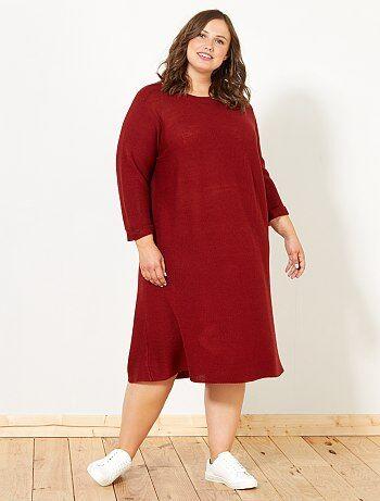 Vestido camisola de malha - Kiabi