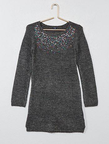 Vestido camisola em malha canelada - Kiabi