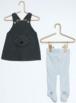 Vestido, saia - Vestido + collants em algodão bio