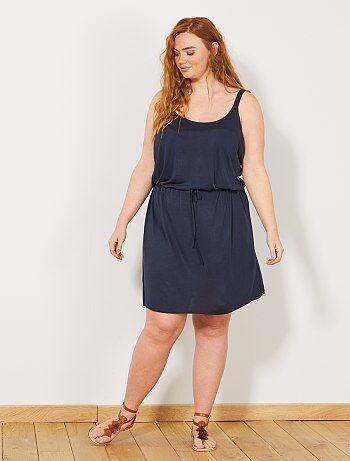 06399822fa Mulher tamanhos grandes - Vestido de alças soltinho - Kiabi