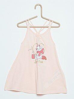 Menina 0-36 meses Vestido de praia com alças entrançadas 'Minnie'