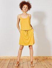 324a0f01af0d Mulher do 34 até 48 - Vestido leve liso - Kiabi