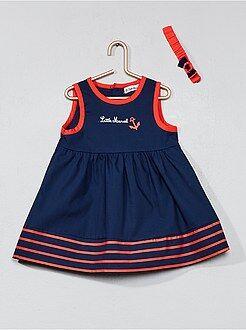 Vestido, saia - Vestido 'Little Marcel' + bandolete - Kiabi