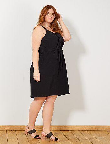 0f11457221 Mulher tamanhos grandes - Vestido soltinho com botões - Kiabi