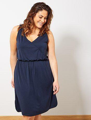 053e882edc Mulher tamanhos grandes - Vestido soltinho de malha piqué - Kiabi